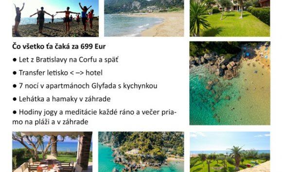 Pobyt s jogou na Corfu – SEPTEMBER 2020