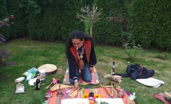 Šaman Renzo Waya z Peru v Poprade